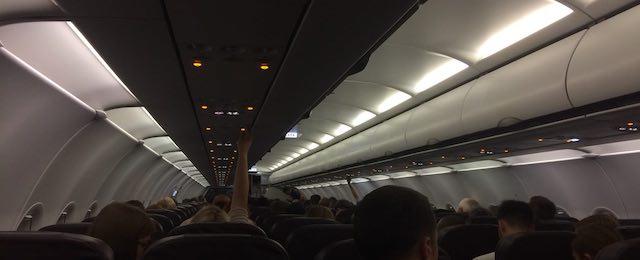 всередині літака Airbus A320