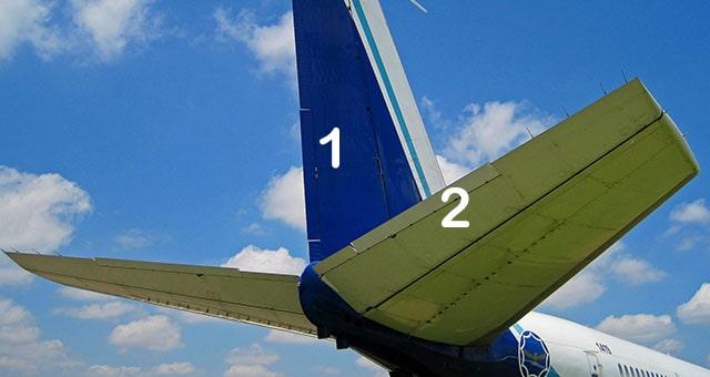 стабілізатори пасажирського літака