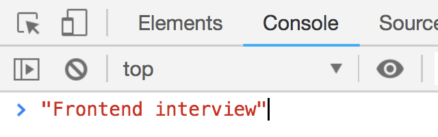 Frontend interview